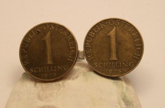 Cufflinks. Austrian coin cufflinks. Steampunk