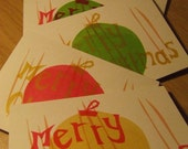 Four Hand Screen Printed Christmas Cards