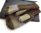 Mens Gloves Knit mittens, green gloves, men gloves Gift under 50 for boyfriend/ husband
