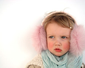 Ear muffs, winter accessory for girl, pink earmuff, Christmas gift