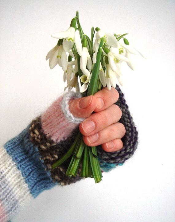 Fingerless gloves, knit women gloves, wool gloves