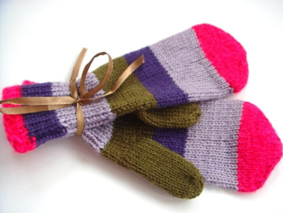 Purple mittens, winter mitts, fall,winter gloves, gift