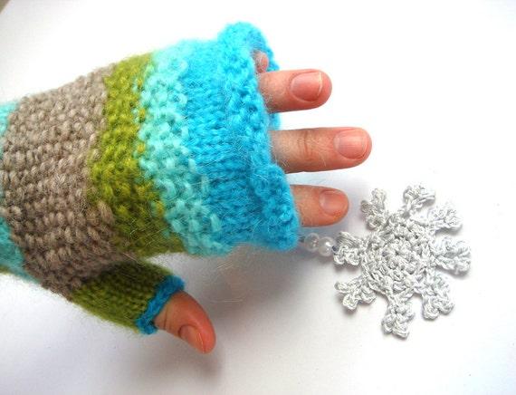 women gloves, fingerless gloves, blue fingerless gloves