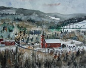 Art Print Limited Edition-Fort Kent, Maine