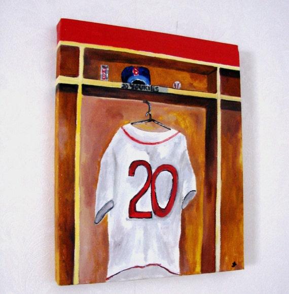 Youkilis Red Sox- Original Oil Painting