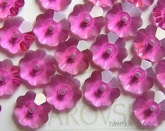 50 pcs FUCHSIA Swarovski Margarita Flower Crystal Beads 3700 6mm Wholesale Destash