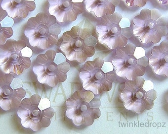 50 pcs LIGHT AMETHYST Swarovski Margarita Flower Crystal Beads 3700 6mm Wholesale Destash