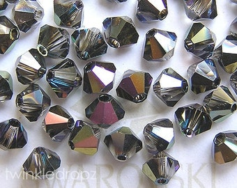 100 pcs HELIOTROPE Swarovski Crystal 5301 4mm Bicone Beads Wholesale Destash