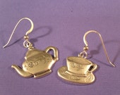 A Little Tea (Earrings, Sterling Silver)
