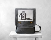 Messenger Bag - The Argoflex  - Field Bag - School Bag - Smoke Gray - Canvas Bag - BucktoothedBunny