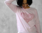 ON SALE - LOVE Languages LongSleeve T-Shirt - Pink - Ladies