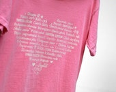 ON SALE - LOVE Languages T-Shirt - Pink Flamingo - Soft and Cozy Youth Sizes