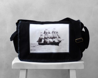 Messenger Bag - Vintage Photograph - The Volage - Boston, MA