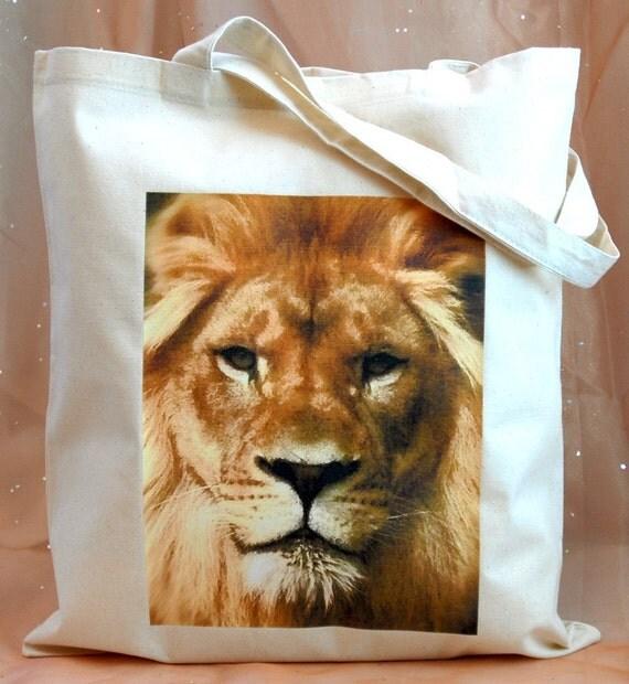The Lion - Cotton Canvas Tote Bag