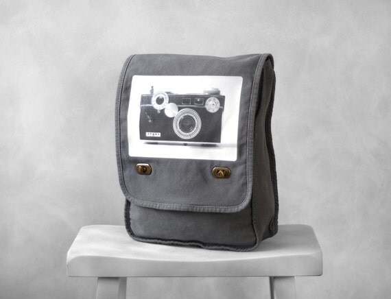 Messenger Bag - The Argus C3 - Field Bag - School Bag - Smoke Gray - Canvas Bag