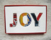 Soda Can Art -  Beer Can -Tin Art -  5 x 7 Collage - JOY  - Inspirational - Recycled Aluminum