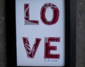 Tin Anniversary Gift - LOVE -  5 X 7  Collage - COKE - Soda  Can Art - Mixed Media -  Aluminum