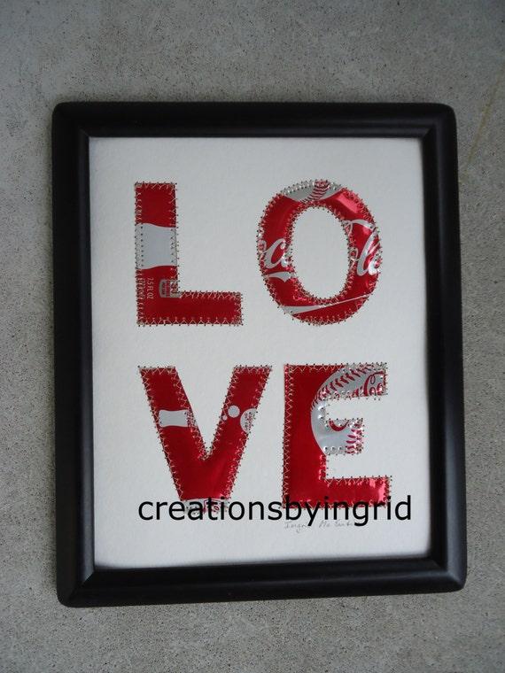 Tin Anniversary Gift Wedding Anniversary Gift LOVE 8 X