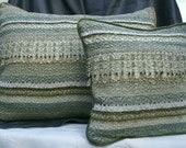 Pillows - Set of 2- Hand Woven  Retro