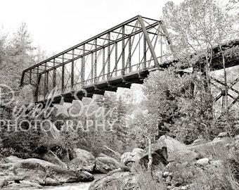 O and W Bridge Black and White - 8x10 Photograph