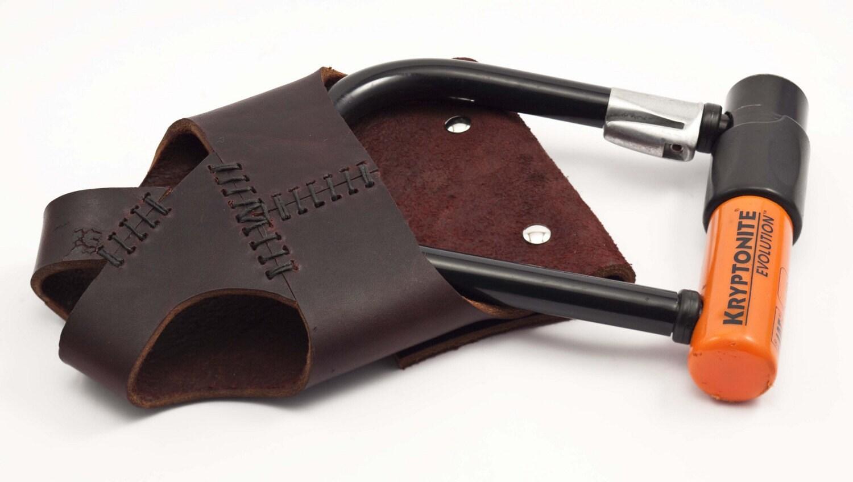 custom leather bike u lock holster. Black Bedroom Furniture Sets. Home Design Ideas