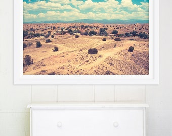 Oversized Art, Large Wall Art, New Mexico Photography, Southwestern, Indian Territory, Desert Paths, Large Desert Photography - Espanola