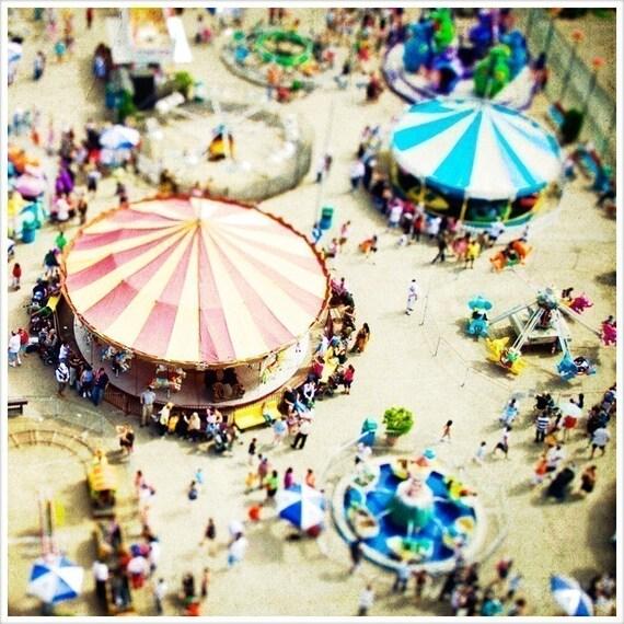 Coney Island Print, Carnival Photography, Coney Island Photography, Nursery Decor, Carousel Photography