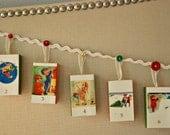 Vintage Christmas Advent Calendar Garland