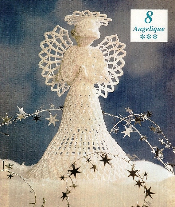 Items similar to Crochet Heirloom Angelique Angel Tree ...