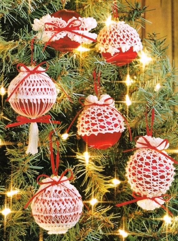 Items similar to 6 Unique Crochet Christmas Ornament Cover ...