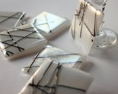Fused Glass Coasters 6 - Contemporary Chopstix