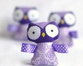Stuffed Owl Baby Rattle