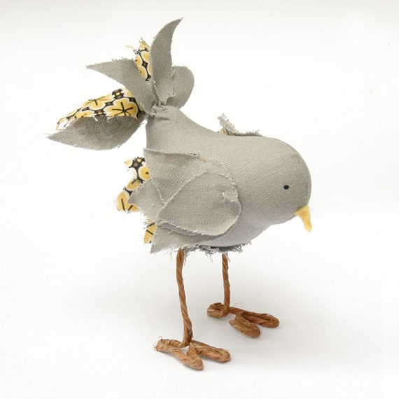 Fabric Bird Soft Sculpture