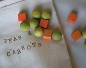 Eat Your Veggies - Wood Peas n Carrots Play Food