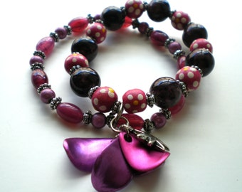 Purple Mist Manhattan Stretch Bracelet