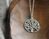 Balance /tree pendant sterling silver necklace