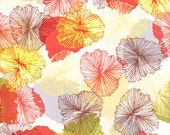 Bryant Park cotton fabbic Orange Faded Floral - 1 YD - FabricFascination