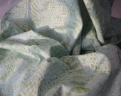 Bali HandPaints Sea Mist Large Snake Skin Fabric:100% Cotton Batik Fabric - 1 YD - FabricFascination