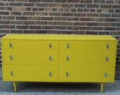 Mustard Yellow Mid Century Dresser (reserved for Kayla)