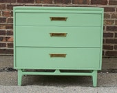 Mid Century Dresser In Mint Green (RESERVED)