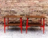 Pair Of Vintage Wood Side Tables