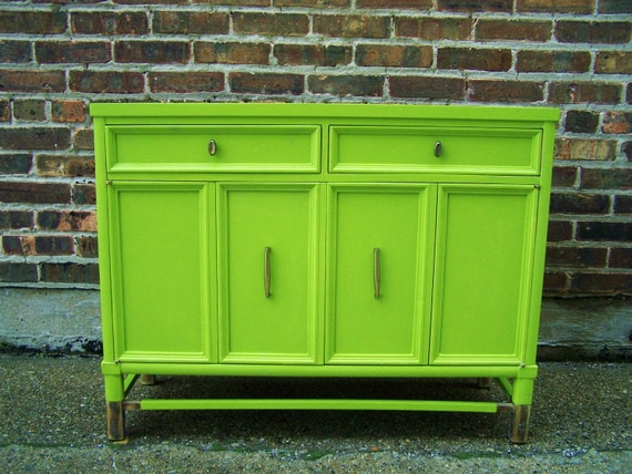 Vintage Cabinet In Rolling Hills Green