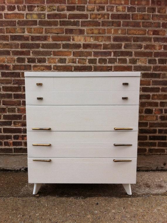 awesome mid century white dresser. Black Bedroom Furniture Sets. Home Design Ideas