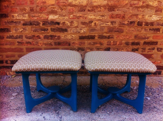Pair Of Vintage Footstools