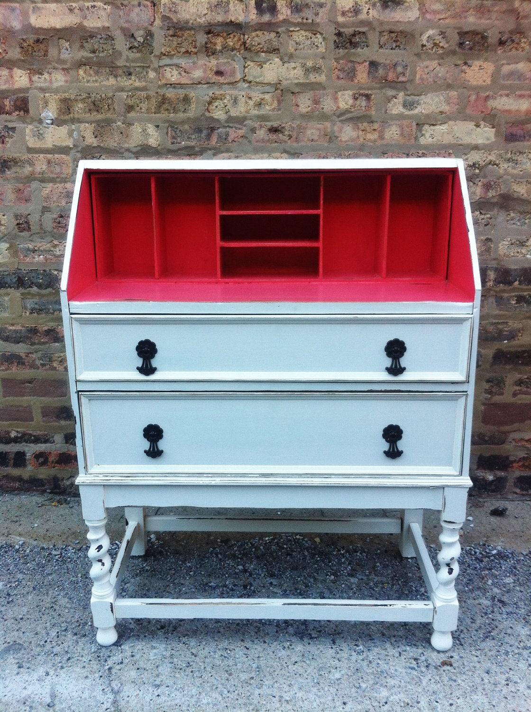 vintage distressed secretary desk. Black Bedroom Furniture Sets. Home Design Ideas