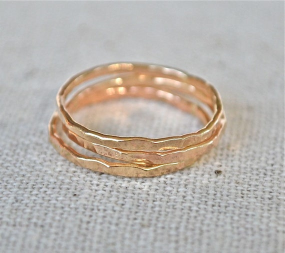Yellow Gold Stack Rings The Skinny Stack