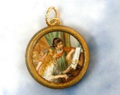 Sisters at the Piano by Renoir Charm Pendant