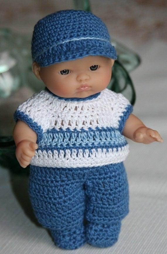 PDF PATTERN Crochet 5 inch Berenguer Baby Doll Little Boy Blue