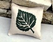 SALE Burlap leaf Pillow