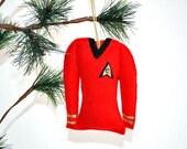 Red Star Trek Shirt Christmas Ornament